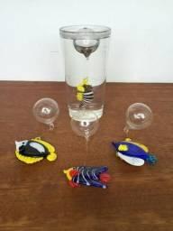 Peixes de vidro para decoração de Aquários