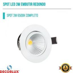 Luminaria Spot Redondo Completo COB 3w 6500k