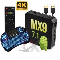Aparelho P/ Transformar Tv Em Smart Completo MX9 4K Novo Garantia 30 Dias