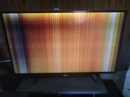 Tv smart aoc 42 com defeito na imagem