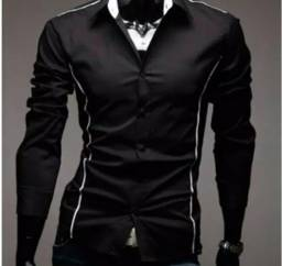 Camisa slim tamanho g preta nova valor 50 reais ee590f435b2d5