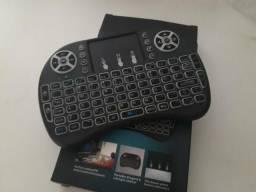 Teclado sem fio com Led p/ Tv Smart, TV Box