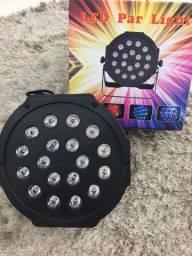 Canhão refletor 18 Leds RGB iluminação para festas