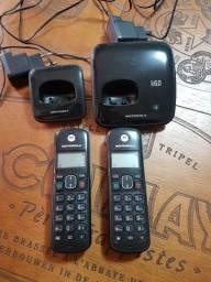 Telefone sem fio com 1 ramal Motorola.