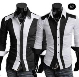 Camisa Slim Fit Atacado Camisas Masculinas Para Revender Revenda Camiseta Masculina Casual