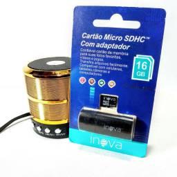 Caixa de som Bluetooth+Cartão 16gb