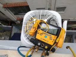 Instalação e higienização de aparelhos de ar condicionado.