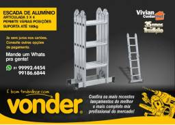 Escada articulada em alumínio 3 x 4 - Vonder