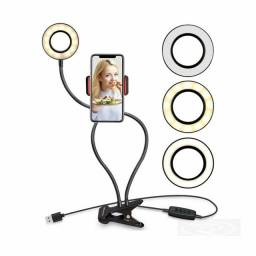 Iluminador Circular LED Ring Light Live Streaming para celular <br>