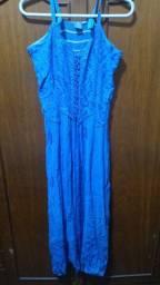 Vestido indiano azul tamanho P