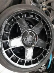 Roda aro 17 noova nv43 Preta Volkswagen Gol 4X100 jogo