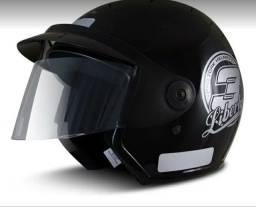 Capacete para moto aberto Pro Tork Liberty Three preto diversos tamanho