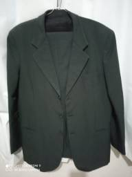 Terno cinza de Oxford alfaiataria, tamanho 42. Masculino