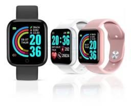 Smartwatch Relógio Inteligente D20 Pro Y68 Black Monitor<br><br>