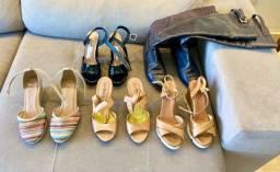 5 pares de sapato num 35 novíssimos