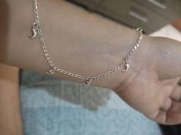 Título do anúncio: Tornozeleira feminina.prata.