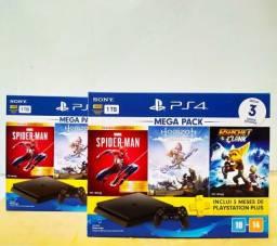PS4 Slim 1TB 5 Jogos (Novo; Com Nota Fiscal e Garantia de 1 ano)