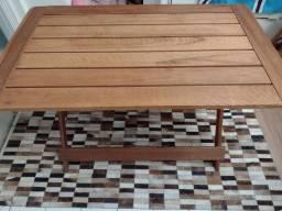 Mesa dobrável para churrasco