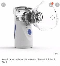 Nebulizador inalador ultrassônico portátil a pilha e Bivolt