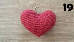 Chaveiros (Coração e Ovo Coelho) amigurumis