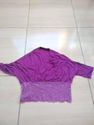 Blusa estilo Cropped Roxa