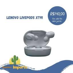 Título do anúncio: Fone Bluetooth Lenovo LivePods XT91