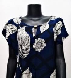 Blusa Viscose Estampada Plus Size GG