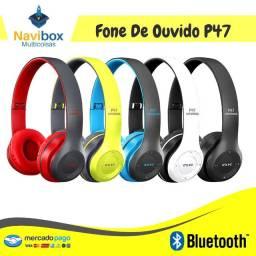 Fone de Ouvido Bluetooth | Cartão Memória - Rádio FM