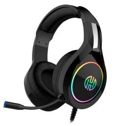 Headset Gamer Hoopson P2 Usb Led Rgb Preto Com Microfone - Loja Natan Abreu