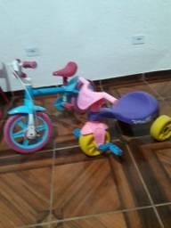 Bicicleta e motinha infantil