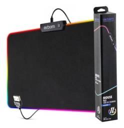 Título do anúncio: Mouse Pad Com Borda de 7 Cores de Led Modos Espectro Backlighting Mpled2535 - Exbom