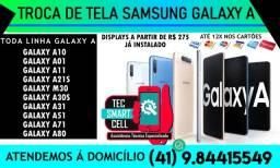 Promoção Troca de tela Samsung Galaxy A Todos os Modelos Instalado na hora, Garantia