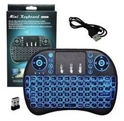 Mini Teclado Controle S/ Fio Touch Led Pc/note/gamer/tvsmart<br><br>