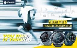 Relógio inteligente Zeblaze vibe 5 a prova d' água, freq cardíaca, rastreador de fitness