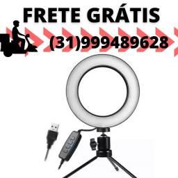 Título do anúncio: Iluminador Ring Light 16cm Profissional Usb 3500k Com Tripé