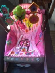 Cadeira de descanso bebe fisher price rosa