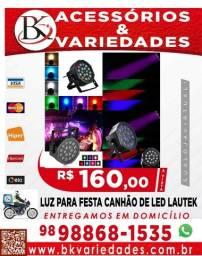 Título do anúncio: Luz p/ Festa Canhao Refletor 18 Leds 3w Rgb Dmx Sensor De Som- (Loja BK Variedades)
