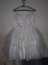Vestido festivo rosa