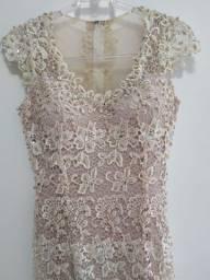 Vestido de Festa Longo Rosé Claro