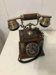 Telefone antigo retrô decoração