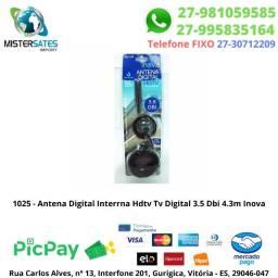 1025 - Antena Digital Interrna Hdtv Tv Digital 3.5 Dbi 4.3m Inova