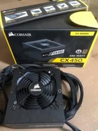 Fonte gamer  corsair cx 450 watt