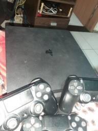 Playstation 4 slim  500g +hd500g (1tb)