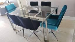 Mesa de Jantar 6 lugares e cadeiras