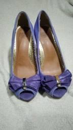 Sapato Parô Brasil Peep Toe Roxo tamanho 35