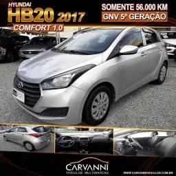 Hyundai HB20 Comfort 1.0 2017 com GNV 5ª Geração