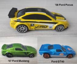 Hot Wheels Ford Lote com 03 miniaturas 1:64