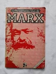 Livro O Pensamento Vivo de Marx
