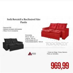 SOFÁ RETRÁTIL E reclinavel 1,85m