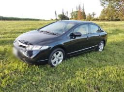 Honda Civic 2008 Flex Preto Baixo Km sem detalhes